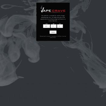 vapecrave com at WI  Vapecrave - Vape Shop in Edmonton selling