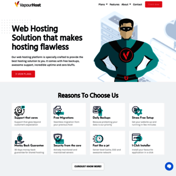 vapourhost com at WI  Reliable, Secure and Rock-Solid Web