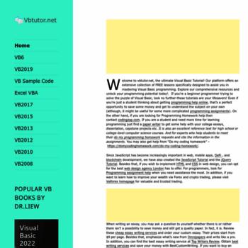 vbtutor net at WI  - Visual Basic Tutorial