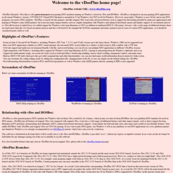 vdosplus org at WI  vDosPlus home page