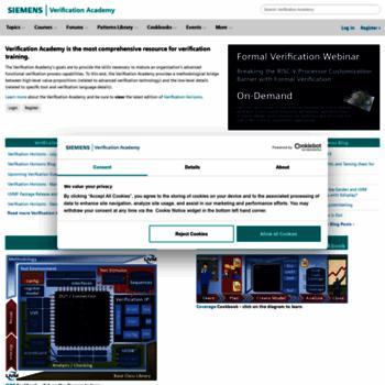 verificationacademy com at WI  Verification Academy - The