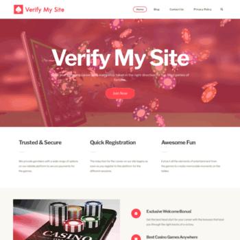 verifymysite net at WI  Verify My Site checks website safety