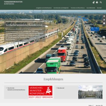 Verkehrsministerkonferenz.de thumbnail