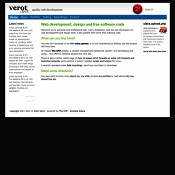 Verot.net thumbnail