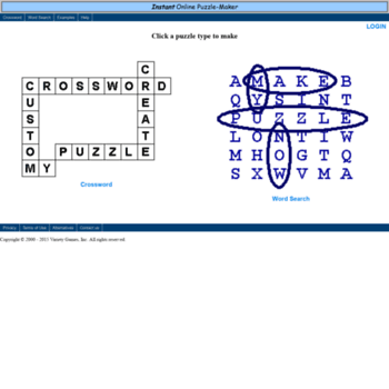 version1 puzzle-maker com at WI  Free Online Puzzle Maker