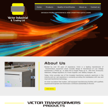 victoruae com at WI  Leading Manufacturer of Electrical Transformers