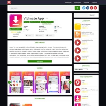 vidmate 9app co in at WI  Vidmate app | Free download & install