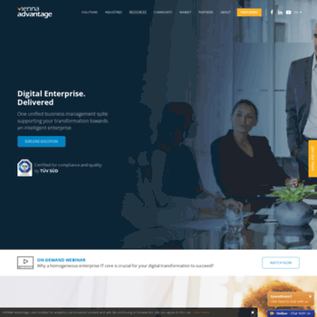 viennaadvantage com at WI  Open Source ERP solutions and CRM