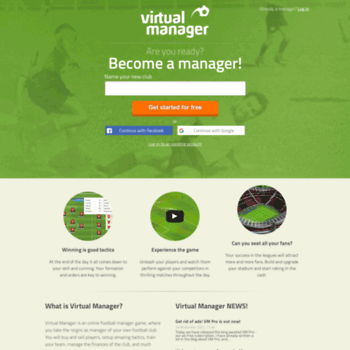 virtualmanager dk at WI  Virtual Manager - Online football manager game