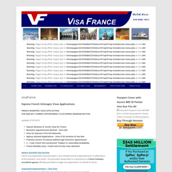 visafrance co uk at WI  Visa France - French Schengen Visa
