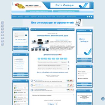 Веб сайт visits.pp.ua