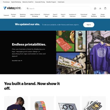 Vistaprint.com thumbnail