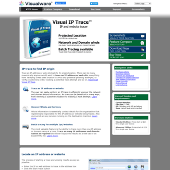 visualiptrace com at WI  IP Trace - Trace IP address or web