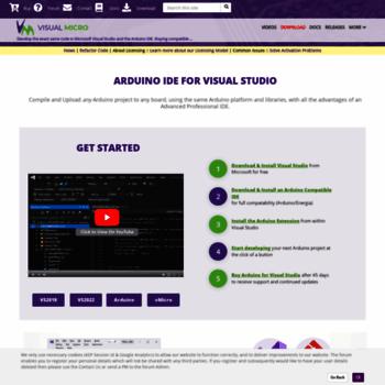 visualmicro com at WI  Arduino IDE for Visual Studio