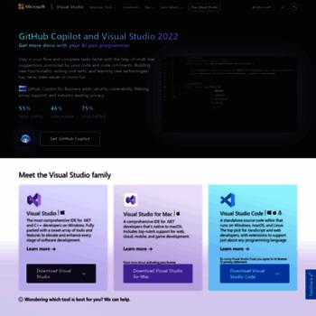 visualstudio microsoft com at WI  Visual Studio IDE, Code Editor