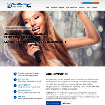 vocalremoverpro com at WI  Vocal Remover Pro | Free Online