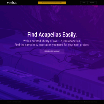 voclr it at WI  Free Studio Acapellas for Music Producers