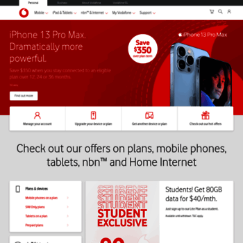 vodafone com au at WI  Mobile Phones, Tablets, Broadband