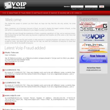 voipblacklist com at WI   : VOIP Blacklist :: VOIP Fraud :