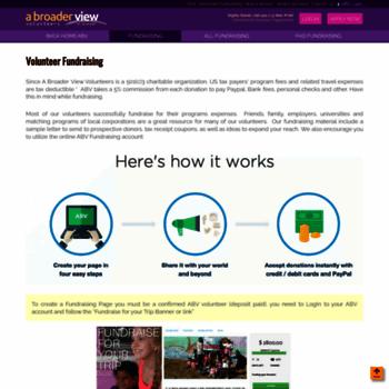 volunteers abroaderview org at WI  Volunteer Fundraising