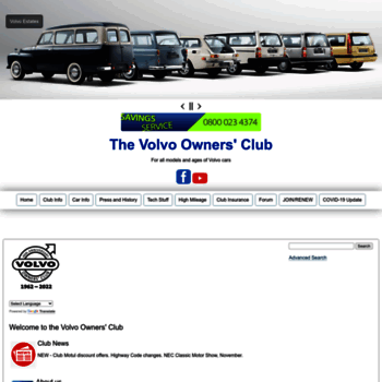Volvoclub Org Uk At Wi Volvo Car Club Volvo Owners Car