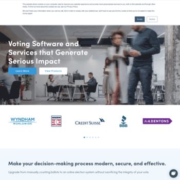 votenet com at WI  eBallot | Secure Online Voting Platform