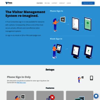 vpass io at WI  VPass   iPad Visitor Management System