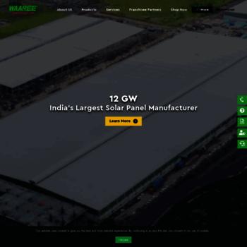 waaree com at WI  Solar Panel Manufacturers in India | Solar