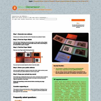 Walletgenerator.net thumbnail