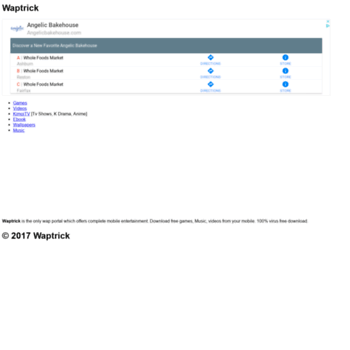 waptrick site at WI  Waptrick : Games, Mp3 Music, Wallpapers