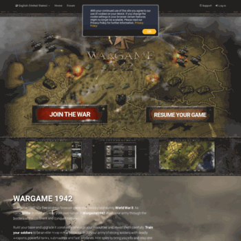 wargame1942 us at WI  Wargame 1942 - Online strategy game in