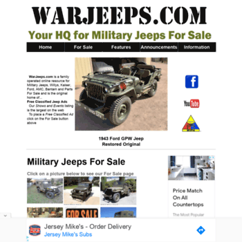 Military Jeeps For Sale >> Warjeeps Com At Wi Military Jeeps For Sale Feature