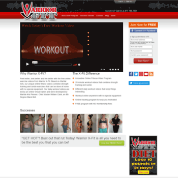 warriorxfit com at WI  Free Online Workout Exercise & Fitness Videos