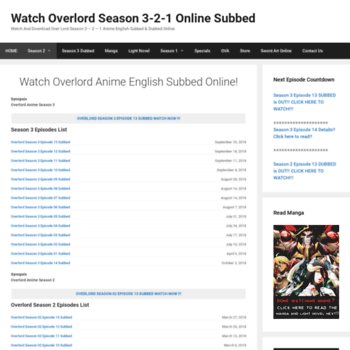 watchoverlord2 com at WI  Watch Over Lord Season 2 - 1 Anime Online