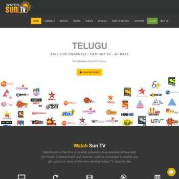 watchsuntv com at WI  Roku Indian Live TV Channels | Tamil