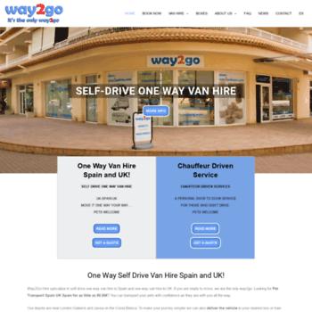 ea4074a56a way2gohire.com at WI. One Way Van Hire UK Spain - Way2Go Van Hire