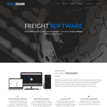 waybilltracking com at WI  Frieght Software, Freight Forwarder
