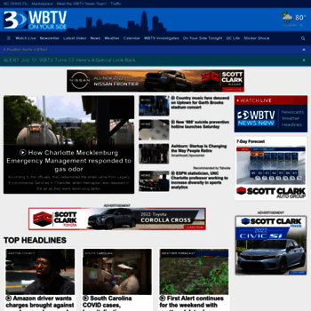 wbtv com at WI  Home - WBTV, Channel 3 News, Weather