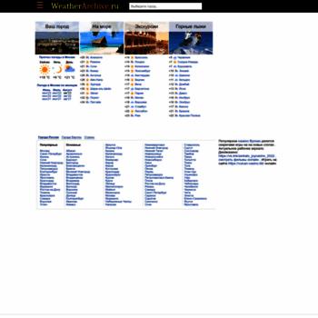 Веб сайт weatherarchive.ru