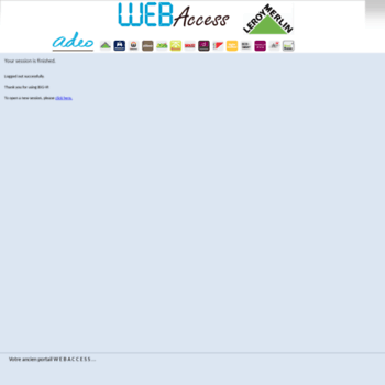 Webaccessleroymerlinfr At Wi Big Ip Logout Page