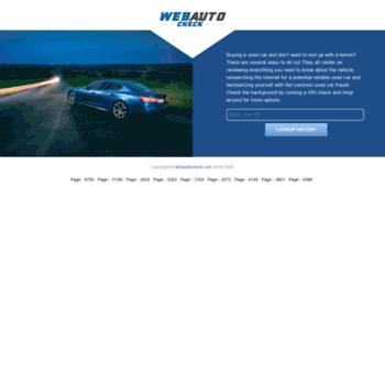 webautocheck com at WI  VIN History Report