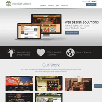 webdesignsolutions com at WI  Web Design Solutions: Best eCommerce