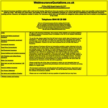 Webinsurancequotations.co.uk thumbnail