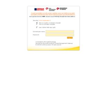 webmail amerikanhastanesi org at WI  Outlook Web App