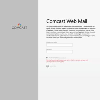 comcast employee webmail login