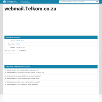 Webmail.telkom.co.za.ipaddress.com thumbnail