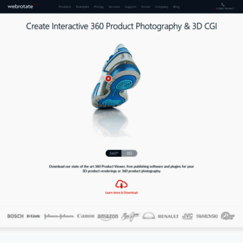 webrotate360 com at WI  Create Interactive 3D CAD and 360
