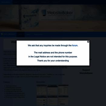 Websitebaker.org thumbnail