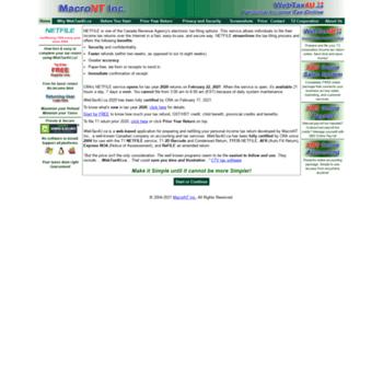 Webtax4u.ca thumbnail