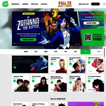 webtoon com at WI  LINE WEBTOON - Global Digital Free Comics
